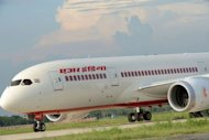 Air India&#39;s first Boeing 787 Dreamlinter aircraft lands at Indira Gandhi International Airport in New Delhi