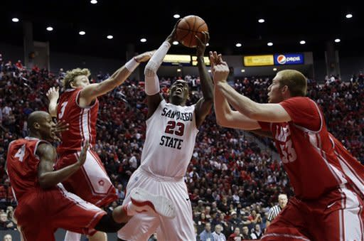 Franklin, SDSU beat No. 15 New Mexico 55-34