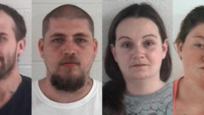 This combination of undated photos released by the Ashland County Sheriff's Office shows, from left, Daniel Brown, Jordie L. Callahan, Jessica L. Hunt, and Dezerah Silsby, who are accused of enslaving a mentally disabled woman and her daughter. A federal magistrate judge on Monday, June 24, 2013 ruled that there's enough evidence against them to send the case before a grand jury. Judge Nancy Vecchiarelli made the ruling against Callahan and Hunt in the case and ordered them locked up pending trial. Brown skipped a chance to ask for pretrial release, and Silsby was freed last week to await trial. (AP Photo/Ashland County Sheriffs Office, File)