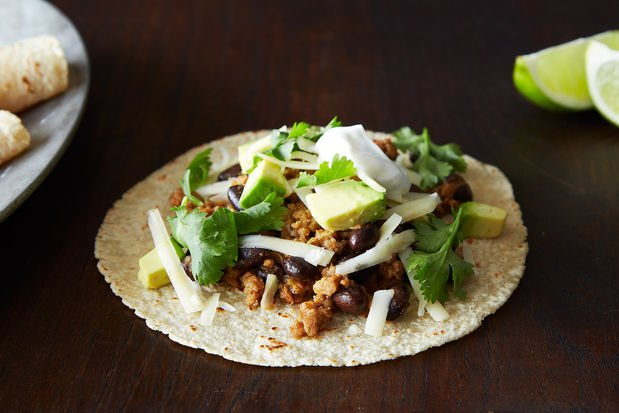 Coconut-Lime Pork Tacos with Guacamole Quinoa