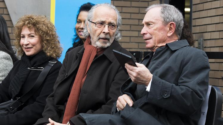 "From left to right, Lani Hall, Herb Albert and Mayor Michael R. Bloomberg attend the ""Harlem School of the Arts - The Herb Alpert Center"" building naming ceremony, on Monday, March 11, 2013 in New York. (Photo by Charles Sykes/Invision for Harlem School of the Arts/AP Images)"