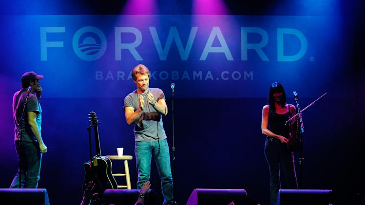 Obama For America Holds Early Vote Event With Jon Bon Jovi In Las Vegas