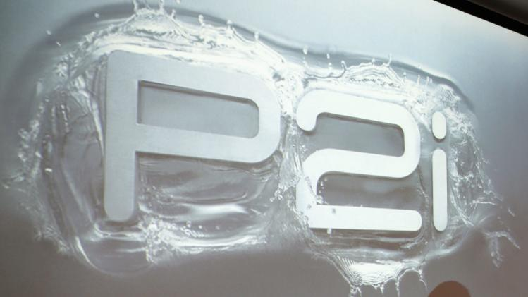 The logo of nanotechnology company P2i during interview in Singapore
