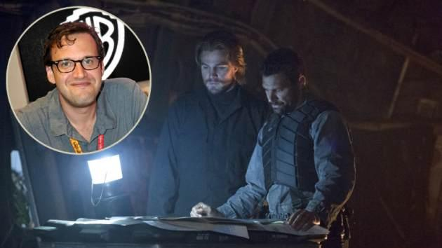 'Arrow' Executive Producer Andrew Kreisberg (in bubble), Stephen Amell as Oliver Queen with Manu Bennett as Slade Wilson -- Getty Images