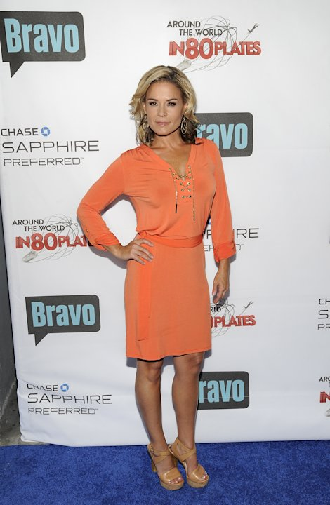 "COMMERCIAL IMAGE - Co-host Cat Cora attends the ""Around the World in 80 Plates"" Finale Sneak Peek Party presented by Chase Sapphire Preferred and Bravo on Thursday, July 12, 2012 in New York.  (Photo"