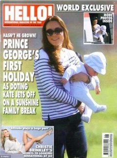 Kate Middleton and Prince George on vacation