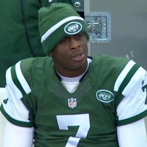 New York Jets quarterback Geno Smith intercepted by Jamie Collins