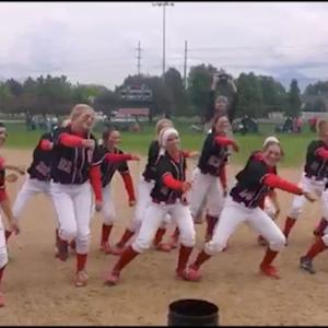 Spanish Fork softball 4A state title dance