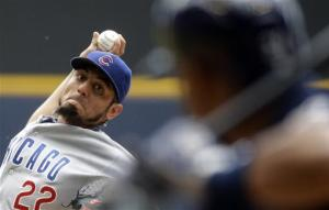 Garza strikes out 10 in Cubs' 7-2 win over Brewers