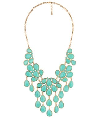 Tear Drop Bib Necklace