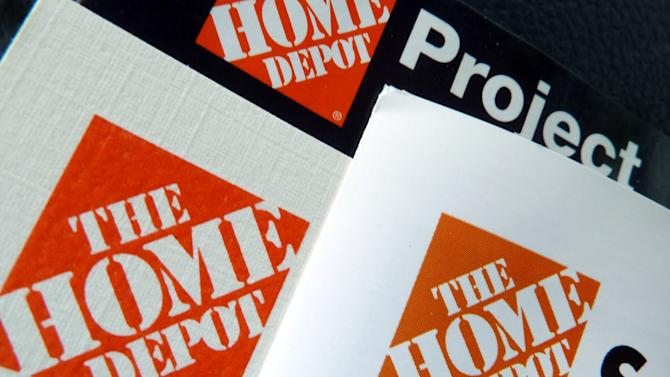 This May 14, 2012 photo shows brochures at a Home Depot store in Danvers, Mass. Home Depot said Tuesday, May 15, 2012 that its fiscal first-quarter profit climbed 27.5 percent as warmer weather brought consumers out for spring gardening and lawn products. (AP Photo/Elise Amendola)