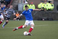 Lee McCulloch puts Rangers ahead from the penalty spot