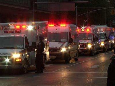 Raw: Evacuation at Bellevue Hospital in NYC