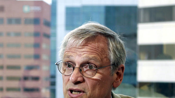 FILE - In this June 8, 2011 file photo, Rep. Earl Blumenauer, D-Oregon, speaks during an interview, in Portland, Ore. Blumenauer is one of several lawmakers from both parties who are working to change U.S. marijuana laws, including moves to legalize the industrial production of hemp and establish a federal pot tax. (AP Photo/Rick Bowmer, File)