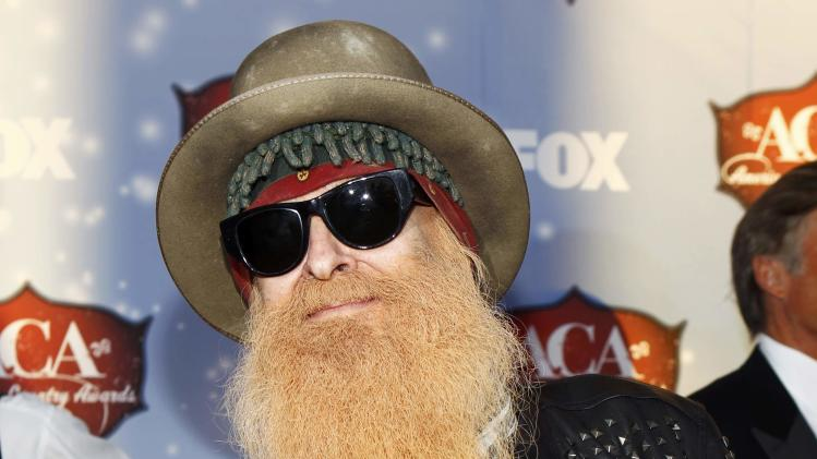 Musician Billy Gibbons poses during the 4th annual American Country Awards in Las Vegas