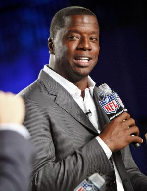 "This Aug. 23, 2012 file photo originally released by the NFL shows former NFL quarterback Kordell Stewart during the DirecTV NFL Fantasy Week at the Best Buy theatre in New York. Stewart has filed for divorce from his reality television star wife. In a divorce petition filed Friday in Fulton County Superior Court in Atlanta, Stewart says his marriage to Porsha Williams is ""irretrievably broken"" and the two are separated. The pair appears on Bravo's ""The Real Housewives of Atlanta."" The filing says the two married on May 21, 2011, and have no children together. (AP Photo/NFL, Brian Ach)"