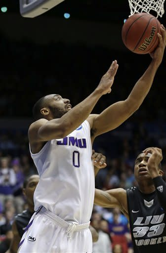 Davis again JMU's MVP in 68-55 First Four win