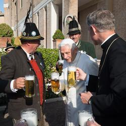 Retired Pope Benedict XVI Celebrates 88th Birthday With A Pint