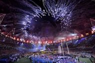 Fireworks light up the sky above the arena during the closing ceremony of the London 2012 Paralympic Games at the Olympic Stadium in east London on September 9. Fantastical wheeled vehicles, roller-skating warriors and bursts of fire brought the London Paralympics to a close Sunday, in a quirky closing ceremony headlined by Coldplay, Rihanna and Jay-Z