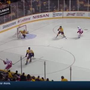 Pekka Rinne Save on Gustav Nyquist (00:54/3rd)