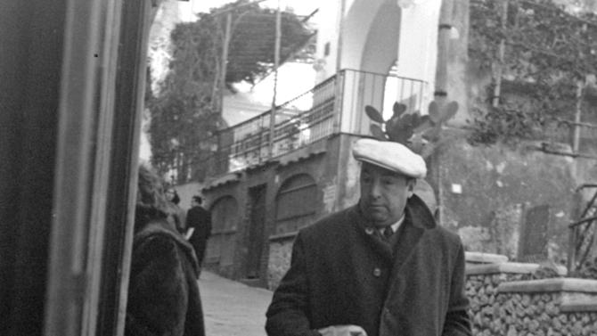 FILE - This Feb. 14, 1952 file photo shows Chilean poet Pablo Neruda in Capri, Italy. The perseverance and persistence during the last two decades from who was the driver and assistant of Neruda, who believes that the Pinochet dictatorship ordered the world-wide poet's assassination, prompted a human rights judge to order on Feb. 8, 2013 the exhumation of his body. But chances are that the exhumation won't be conclusive on whether the poet died in the middle of a treatment for prostate cancer or was killed by a doctor, whose existence no one can verify, to silence the vocal poet who was an active member of the Chilean Communist Party. Officially, Neruda died of cancer only days after the 1973 coup toppled his close friend, socialist President Salvador Allende. (AP Photo/File)