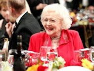 Actress Betty White in the audience at the 39th AFI Life Achievement Award in June 2011 in Culver City, California. White, 90, was invited to a Marine ball by Sgt. Ray Lewis, who has served in Afghanistan and Iraq