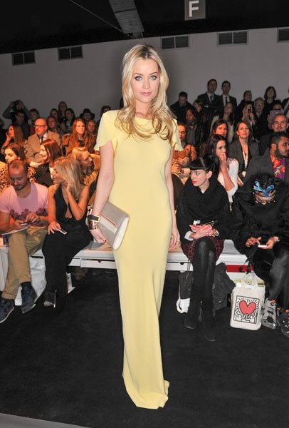London Fashion Week AW13 FROW Laura Whitmore Maria Grachvogel  Getty