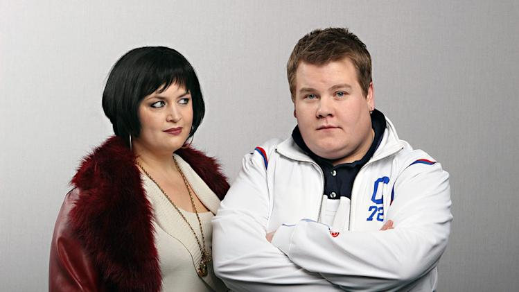 Ruth Jones stars as Nessa and James Corden stars as Smithy in Gavin & Stacey.