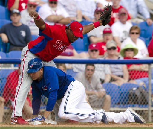 Phillies blank Blue Jays 7-0 in spring game