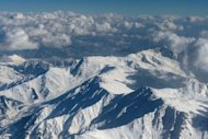 Snow-capped Himalayan mountains in the disputed Kashmir region are pictured during a commercial flight from Srinagar to Jammu on January 9, 2013. India delivered a dressing-down Wednesday to Islamabad's envoy to Delhi as it accused Pakistan's army of beheading one of two soldiers killed in Kashmir, but both sides warned against inflaming tensions