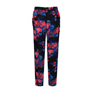 French Connection Floral Trousers: Oriental Influence: Fashion Trend