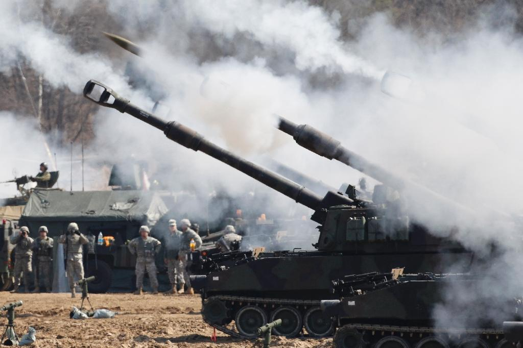 N. Korea fires missiles in anger as South-US drills begin