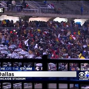 Weather No Deterrent For H.S. Football Fans