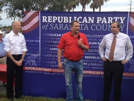 Florida Gov. Rick Scott Stumps in Sarasota