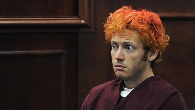 FILE - In this July 23, 2012 file photo, James E. Holmes appears in Arapahoe County District Court in Centennial, Colo. Nearly six months after a bloody rampage in a Colorado movie theater left 12 people dead, prosecutors will go to court Monday Jan. 7, 2013 to outline their case against the suspect, James Holmes. (AP Photo/Denver Post, RJ Sangosti, Pool, File)