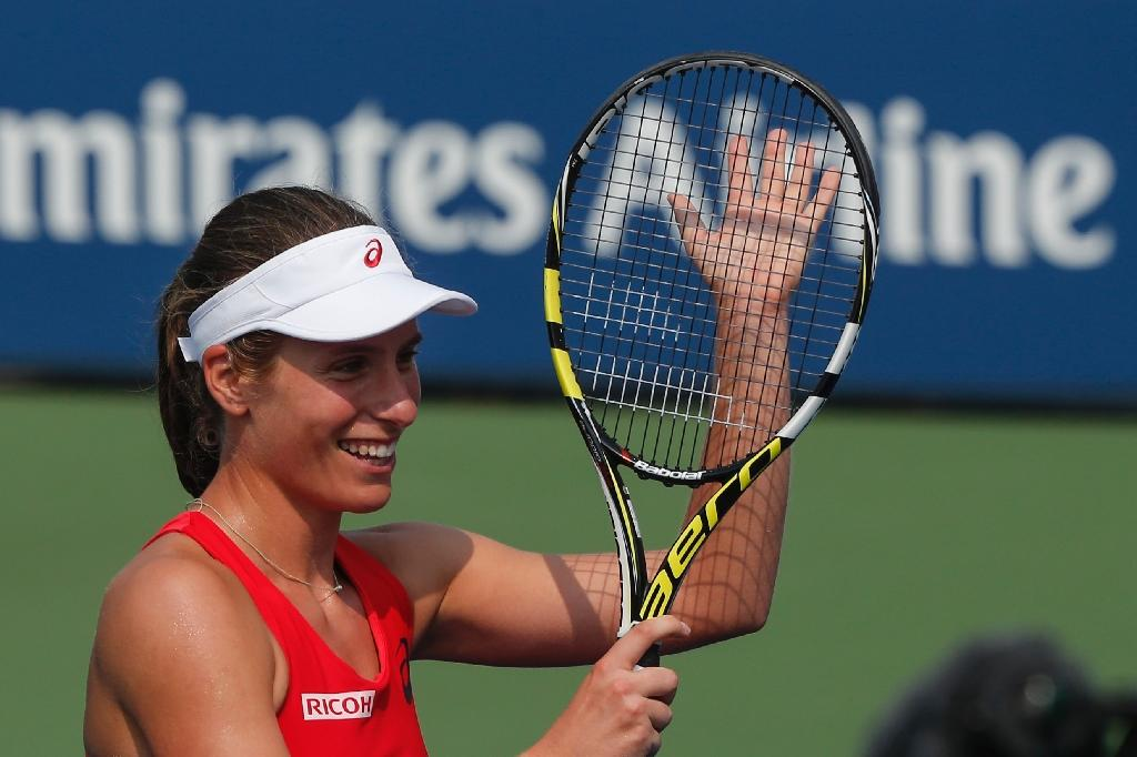 Konta stuns Muguruza in longest US Open women's match