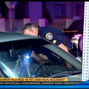 Two women injured in hit-and-run accident