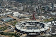 This aerial view shows the Olympic Stadium in the Olympic Park in east London on June 20, 2012. The organisers of the London Olympics hope their mammoth �9.3 billion investment will regenerate east London, but critics fear it will only create an island of prosperity amid run-down neighbourhoods