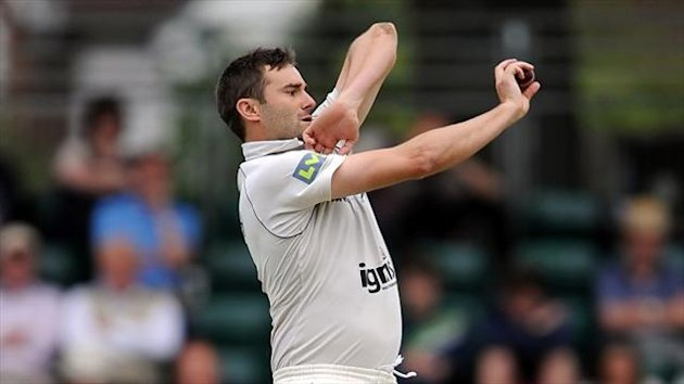 Tim Murtagh took three wickets as Surrey were dismissed for 338
