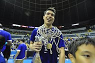 Finals MVP Nico Salva. (NPPA Images)