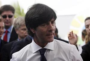 Loew arrives for the draw for the 2014 World Cup at the Costa do