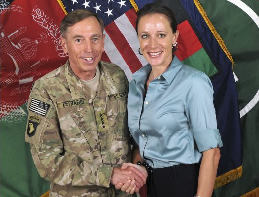 ISAF handout image of Petraeus and Broadwell
