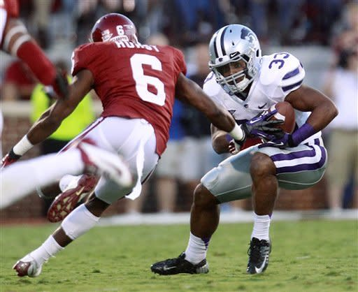 No. 15 K-State upends No. 6 Sooners 24-19
