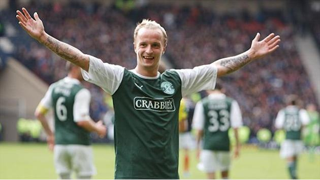 Scottish Premier League - Hibernian's Griffiths completes award hat-trick
