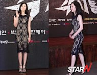 Han Chae-ah's see-through dress at the press conference of KBS drama 'Gaksital'