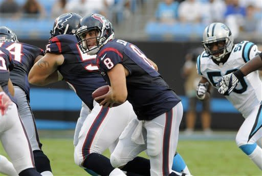 Schaub makes return, Texans beat Panthers 26-13