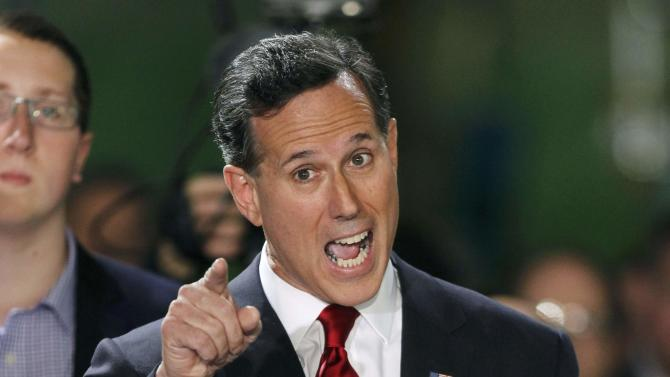 Republican presidential candidate and former U.S. Senator Rick Santorum declares his candidacy in Pennsylvania