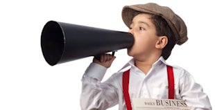 5 Things Customers Need To Hear You Say In Your Email Newsletter image Boy with magaphone Small1