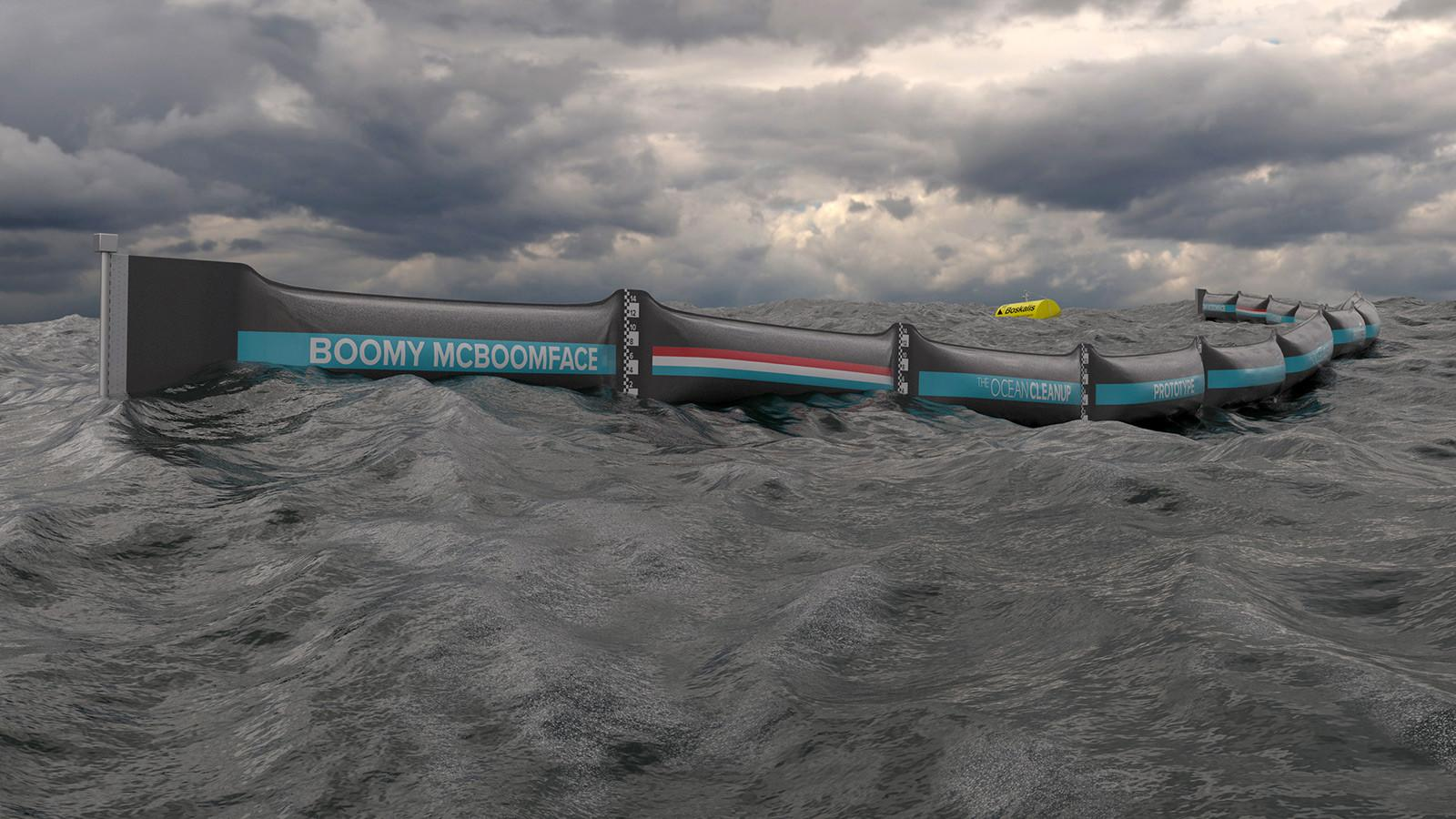 A giant floating barrier might be the answer to cleaner oceans