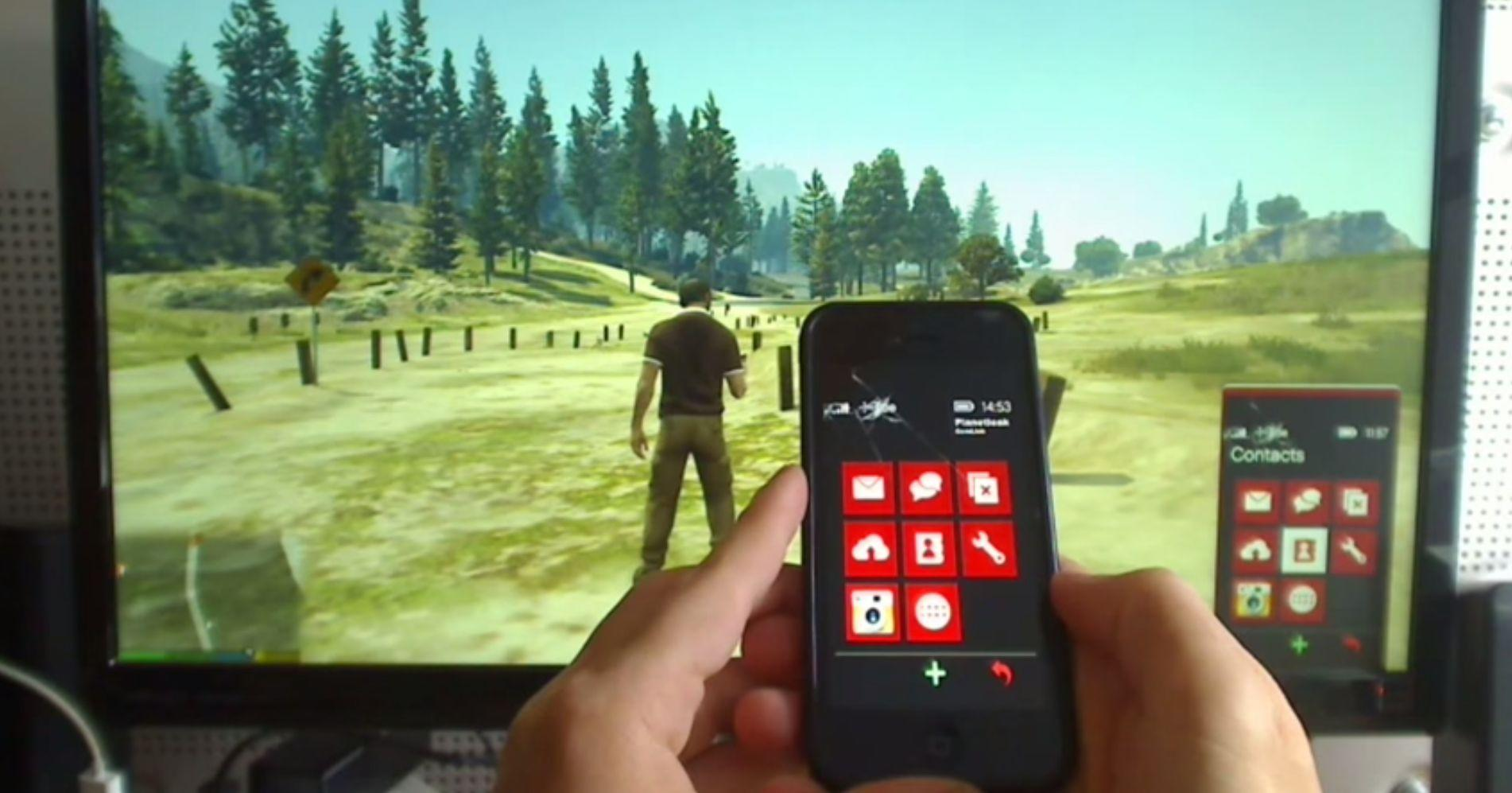 GTA 5's In-Game Phone Works With This Modder's iPhone App